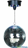 Party Mirror Disco Ball - LED Colorful Spinning Motor