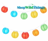 "Party String Lights - 4"" Multi Color Round Lights"