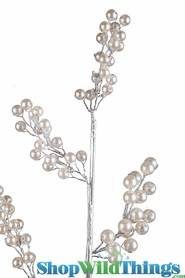 "Pearl Spray - Floral Pick of Pearls 24"" - ""Claire"""