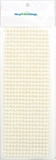 Pearl Sticker Ivory 6mm - 36 Sticker Strips - 504 Adhesive Pearls