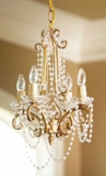 """Penelope"" Chandelier, Gold Iron w/ Acrylic Beads"