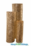 "Pillar Columns - 20"",  28"" & 35"" Tall - Gold Glittered - Set of 3 - ""Cielo"""