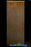 "Plain Bamboo Beaded Curtain 32""  x 76""  - 60 Strands"