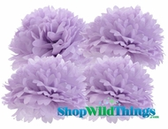"Pom Poms 12"" Tissue Paper - Lavender - Set of 4"