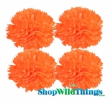 "Pom Poms 12"" Tissue Paper - Orange - Set of 4"