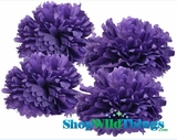"Pom Poms 16"" Tissue Paper - Dark Purple - Set of 4"