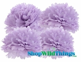 "Pom Poms 20"" Tissue Paper - Lavender - Set of 4"