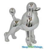 "Poodle ""Fifi"" Silver, Large 11"""