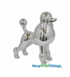 "Poodle ""Fifi"" Silver, Medium 9"""