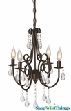"""Princessa"" Antique Brown Jeweled Chandelier 25"" x 18"""