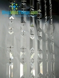Prism Hand-Beaded Curtain 1 Foot Wide, Large Rectangles (Golden Globes, Access Hollywood!)