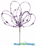 Doorbuster - Purple Loop Stem - Metallic Purple 19""