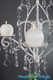 """""""Rachelle""""  Crystal & White Hanging Candle Chandelier, Medium"""