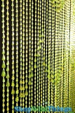Raindrops Beaded Curtain - Lime Green Iridescent - 3' x 6'
