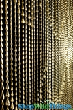 Raindrops Beaded Curtain - Gold - 3 ft x 6 ft