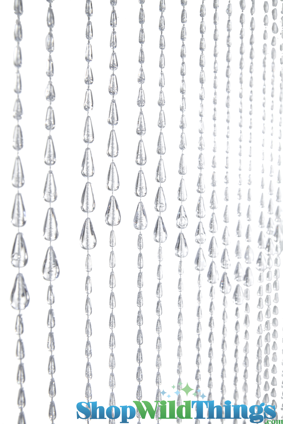 Details about red non iridescent raindrops beaded curtain - Beaded Curtains Columns Sort By Bead Shape Raindrops Raindrops Beaded