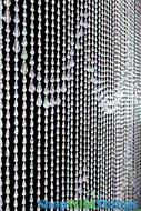 Raindrops Beaded Curtain - Crystal Iridescent - 3' x 6'
