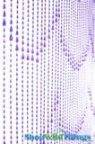 Raindrops Beaded Curtain - Purple Iridescent - 3 ft x 6 ft