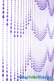 Raindrops Beaded Curtain - Purple Non-Iridescent - 3 ft x 6 ft