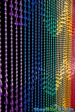 Raindrops Beaded Curtain - Rainbow Non-Iridescent - 3 ft x 6 ft