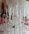 "Real Crystal 5 Arm Candelabra ""Trista"" - 40"" Tall!"