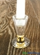 "Real Crystal Candlestick Holder ""Monza"" Gold - 3 1/8"""
