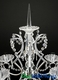 """Real Crystal & Chrome 6 Arm Candelabra """"Nicoline"""" - Over 3' Tall - Optional Top Spire"""