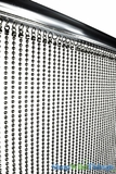 "Real Steel Ball Chain Curtain - Gunmetal Color - 35"" x 6'"