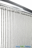"Real Steel Ball Chain Curtain - Nickel Color - 35"" x 6'"