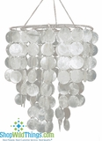 Real White Capiz Shell Chandelier - Sandals Resorts!