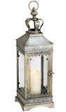 """Regalia"" Square Pillar Candle Lantern 22"" Tall!"