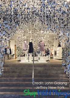 Retail Store Display - Jeffery New York - PVC Beaded Curtains