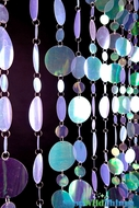 Retro PVC Beaded Curtain - Clear Iridescent - 3' x 8'