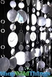 Retro PVC Beaded Curtain - Silver - 3 ft x 8 ft