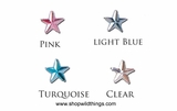 Rhinestones - 10mm Stars - 80pcs - 4 Colors Available