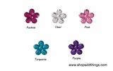 Rhinestones - 12mm Flowers - 165pcs - 5 Colors Available
