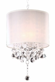 """Ritz"" Real Crystal Chandelier - 14""Lx14""Wx21""H"
