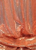"""Ritzy Round"" Spangles - Peach - Fabric 44"" x 5 yards"