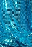 """Ritzy Round"" Spangles - Turquoise - Fabric 44"" x 5 yards"