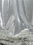 """Ritzy Round"" Spangles White & Silver  - Fabric 44"" x  5 yards"