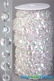 Roll of Beads 22 Yards (66 ft) - Diamante Duo Iridescent