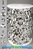 Roll of Beads 22 Yards (66') Diamante Duo Silver