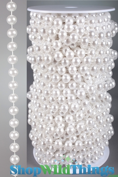 Roll of Beads - 22 Yards (66 Feet) Pearls 10mm Balls