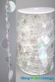 Roll of Beads 33 Yards (99 ft) Bubbles Crystal Iridescent