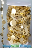 Roll of Beads 50 Yards (150 ft)- Bubbles Gold Metallic