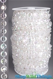 Roll of Beads 50 Yards (150') - Diamonds Crystal Iridescent