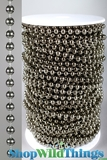 Roll of Beads 50 Yards (150') - Faux 6mm Ballchain , Steel Color