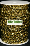 Roll of Beads 50 Yards (150 ft) - Gold Diamonds