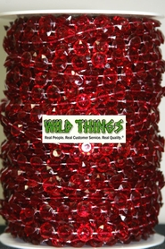 Roll of Beads 50 Yards (150 ft) - Red Diamonds