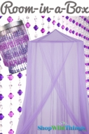 "Room in a Box - ""Megan"" Purple - 3pcs"
